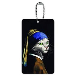 The Cat With The Pearl Earring - Girl Johannes Vermeer Paint