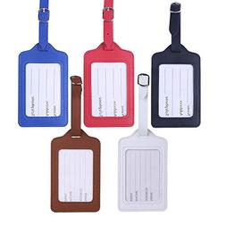 Travel Luggage Tags - Bulk PU Cruise Baggage Tag Set - Ident