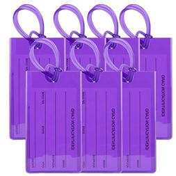 TravelMore Luggage Tags For Suitcases - Flexible Name ID Lab