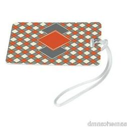 Travelon Argyle Print Luggage Tag, Orange - 12232-60