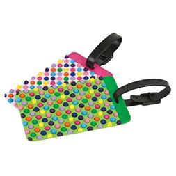 Travelon Set of 2 Luggage Tags, dots