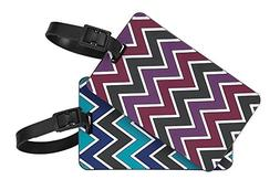 Travelon Set of 2 Luggage Tags Chevron