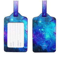 Troides PU Leather Luggage Tags Suitcase Labels Bags Travel