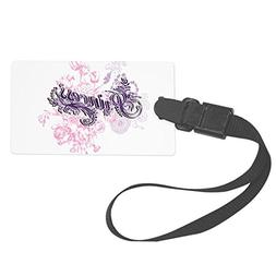 Truly Teague Large Luggage Tag Purple Princess Floral