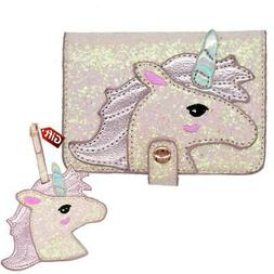 Unicorn Passport case and Luggage tag Gift US Pink Passport