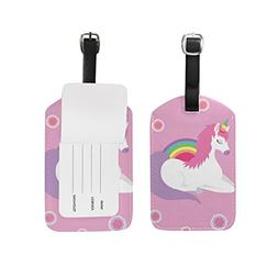 Unicorn Queen Sleep Luggage Tag PU Leather Suitcase Bag Labe