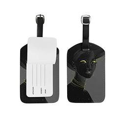 Unisex Black Women Luggage Tags Travel ID Bag Tag for Suitca