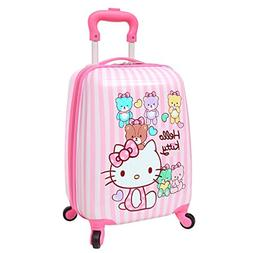 X-tag 18 inch Kitty Kids Carry on Spinner Hardside Upright L
