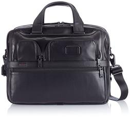 Tumi Alpha 2 Expandable Organizer Laptop Leather Brief, Blac