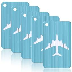 brushed aluminum finish travel luggage tag suitcase