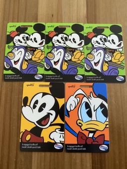 American Tourister Disney luggage tags set of 5 new
