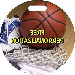 Basketball Equipment Round Personalized Luggage Tote Bag Tag