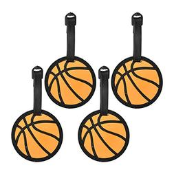 Basketball Sports Fan Luggage Tag Travel ID for Suitcases -