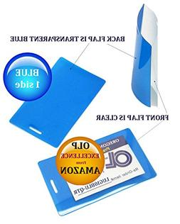 Blue/Clear Luggage Tag Laminating Pouches 2-1/2 x 4-1/4 Qty
