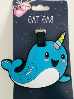 blue narwhal suitcase id travel kids luggage