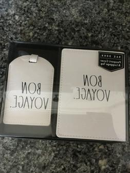 Rae Dunn BON VOYAGE Large Letter LL Passport Cover & Luggage