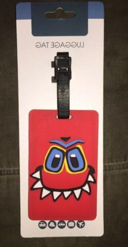 Brand New Kid's Red Monster Luggage Tag