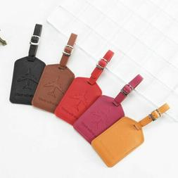 Creative Aircraft Pattern Luggage Tag Leather Travel Accesso