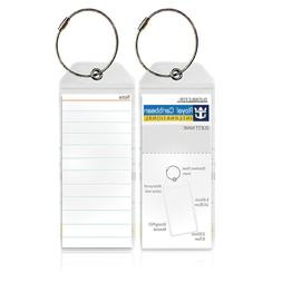 SWISSELITE Cruise Tags - PVC Luggage Tags with Zip Seal / Cr