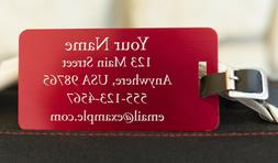 Custom Engraved Jumbo Aluminum Luggage Tag- 6 Colors Availab