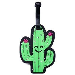 CUTE CACTUS LUGGAGE TAG Luggage Accessories Travel Vacation