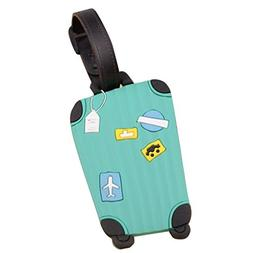Fullkang Cute Cartoon Suitcase Luggage Tags ID Address Holde