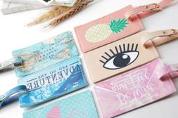 Cute Printing Passport Cover Luggage Tag Suitcase Label Addr