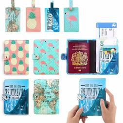Cute PU Leather Travel Passport Holder Blocking ID Cards Cas