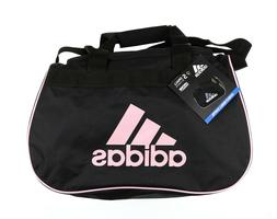 adidas small diablo duffle black / pink gym bag