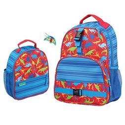 Stephen Joseph Boys Dinosaur Print Backpack and Lunch Box wi