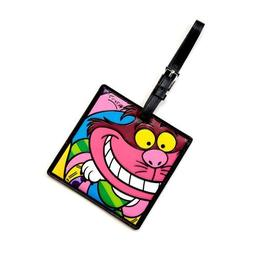 disney cheshire cat large luggage tag by britto new with tag