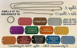 DOG TAG CUSTOM ENGRAVED LUGGAGE NECKLACE GIFT SCHOOL PENDANT