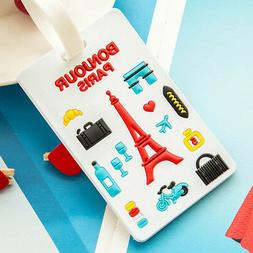 Durable Luggage Label Silicone Tag Cute Bag Holder Suitcase