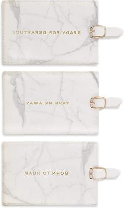 Eccolo World Traveler Marble Luggage Tags, Box Set Of 3