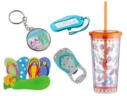 Cool Values Flip Flop Gift Set for Men Tumbler Bottle Opener
