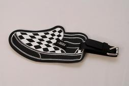 Vans Footwear Accessories Slip On Luggage Tag Black Leather