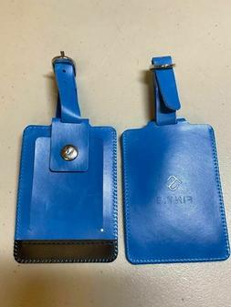 genuine leather luggage suitcase tags travel baggage