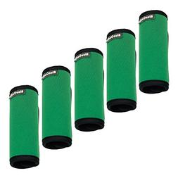 green 5 pack soft neoprene suitcase handle