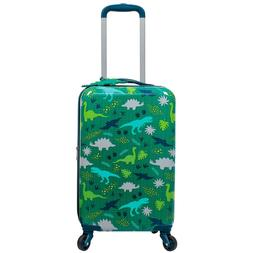Kids Hardside Spinner Luggage with Matching Luggage Tag