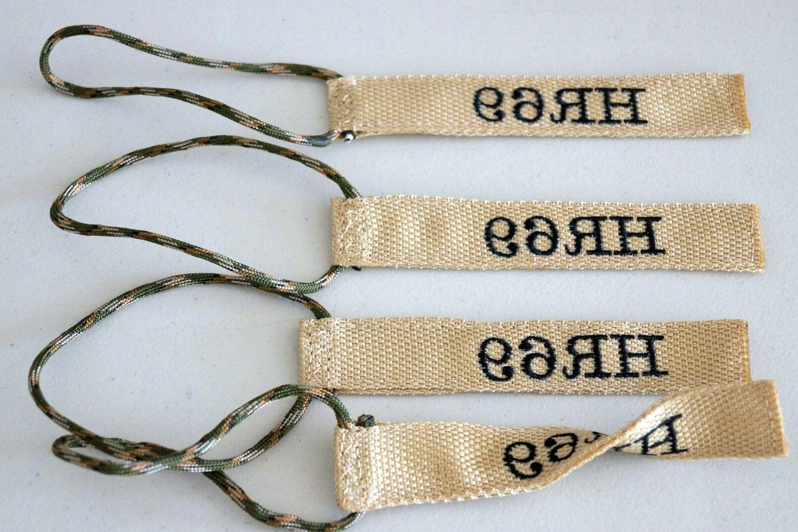 "Luggage/Equipment Tag, 1"" Double Sided, Personalized, Embroi"