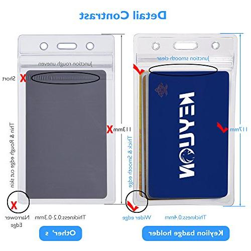 KEYLION Duty ID Clear Vertical Thickness 0.4mm Thicker than Standard
