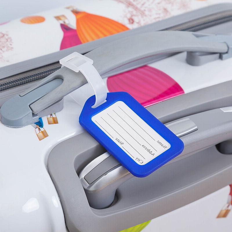 10 Travel Luggage Tag Suitcase Baggage Office Name Label