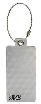 2 Lewis N. Clark Aluminum Luggage Tags Silver Travel Bag Sui