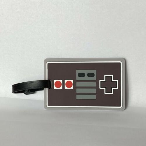 2 nintendo game controller luggage backpack tag