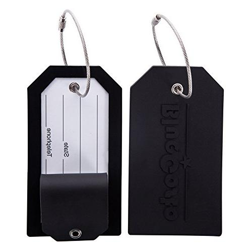 2 pack luggage tag label suitcase tags