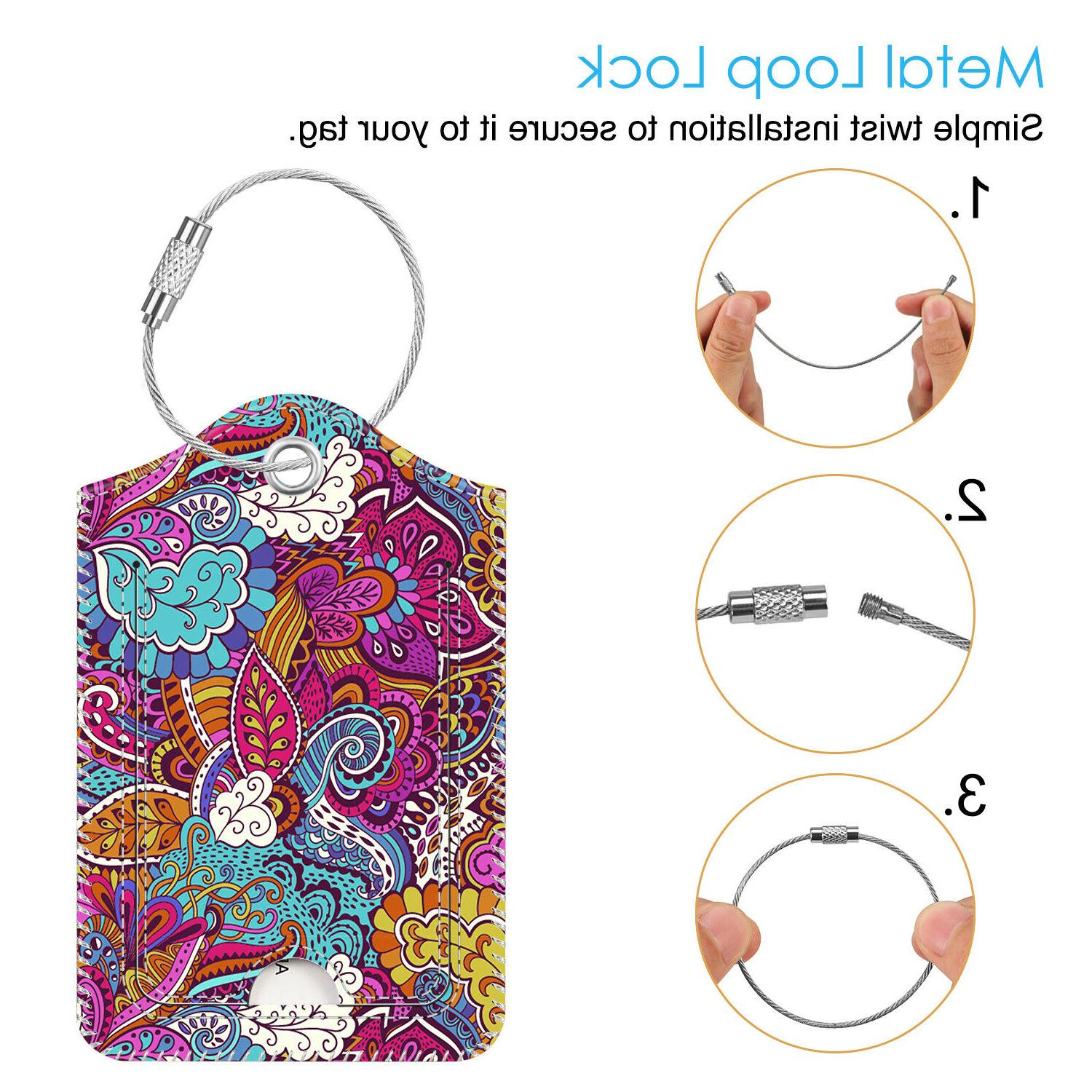 Luggage Tags Name Card Holder Travel Suitcase Backpack