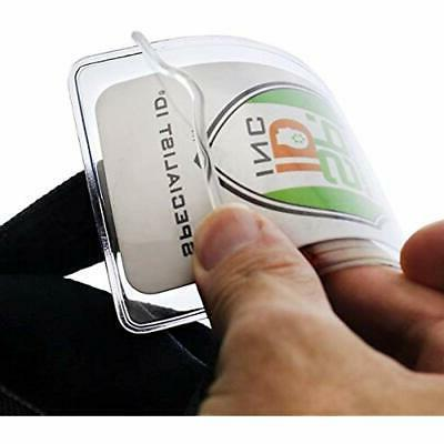 25 Pack Badge Holders - Clear Plastic Or