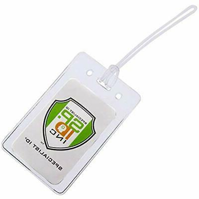 25 pack badge holders locking top clear