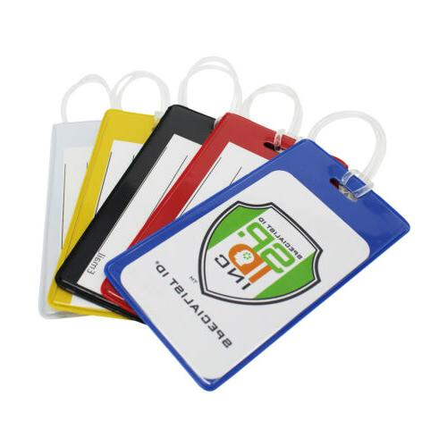 100 pcs bright backpack id tags