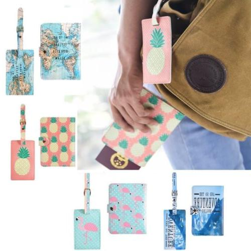 2x passport holder wallet cover case luggage